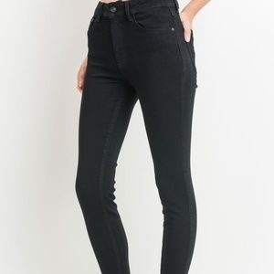 High Rise JUST BLACK american made jeans 30 Petite